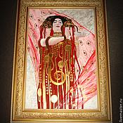 """Картины и панно ручной работы. Ярмарка Мастеров - ручная работа По мотивам Г.Климт """"Медицина"""". Handmade."""