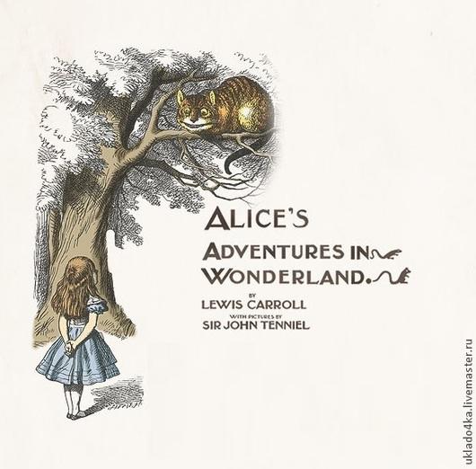 """Открытки и скрапбукинг ручной работы. Ярмарка Мастеров - ручная работа. Купить Набор открыток """"Алиса в стране чудес"""", 8 видов. Handmade."""