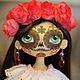 Коллекционные куклы ручной работы. Ярмарка Мастеров - ручная работа. Купить Интерьерная  текстильная кукла Муэрточка.. Handmade. Интерьерная кукла