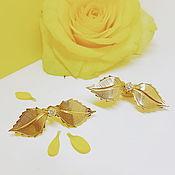 """Украшения ручной работы. Ярмарка Мастеров - ручная работа Серьги """"листики розы"""". Handmade."""
