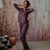 Пижамы ручной работы. Ярмарка Мастеров - ручная работа Пижамы: рубашка и брюки. Handmade.