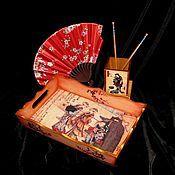 Для дома и интерьера handmade. Livemaster - original item Tray Geisha. walk.. Handmade.