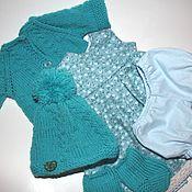 """Clothes for dolls handmade. Livemaster - original item Комплект """"Снегурочка"""", для вальдорфских кукол и бебибонов 38-42 см. Handmade."""