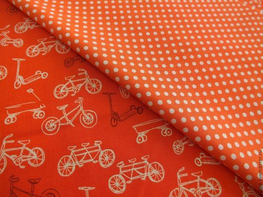 """Шитье ручной работы. Ярмарка Мастеров - ручная работа. Купить Коллекция """"Летняя прогулка"""". Handmade. Оранжевый, хлопок"""