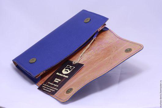 Женские сумки ручной работы. Ярмарка Мастеров - ручная работа. Купить Синий клатч. Handmade. Синий, кожаный клатч