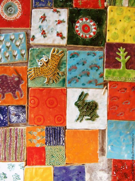 Элементы интерьера ручной работы. Ярмарка Мастеров - ручная работа. Купить Керамическая плитка С картинками 1 кв метр. Handmade.