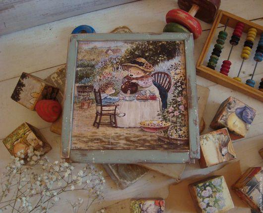"""Развивающие игрушки ручной работы. Ярмарка Мастеров - ручная работа. Купить Набор кубиков """"К бабушке на чай"""". Handmade. Комбинированный"""