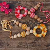 Одежда ручной работы. Ярмарка Мастеров - ручная работа Слингокулоны можжевеловые Оранжевый и Красный. Handmade.