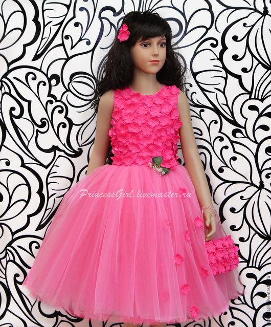 """Одежда для девочек, ручной работы. Ярмарка Мастеров - ручная работа. Купить Нарядное платье """"Камелия"""". Handmade. Нарядное платье, еврофатин"""
