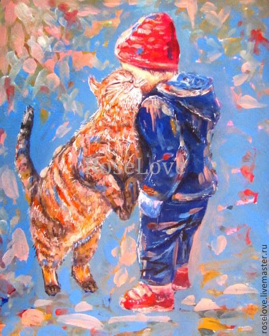 Картина для детской «Неразлучные друзья»2 Катерины Аксеновой