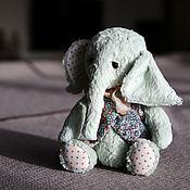 Мягкие игрушки ручной работы. Ярмарка Мастеров - ручная работа Мятный слоник. 24 см в полный рост. Handmade.
