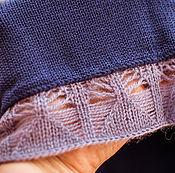 """Одежда ручной работы. Ярмарка Мастеров - ручная работа Пончо """" Лиловый вечер """" большой размер , большие размеры. Handmade."""