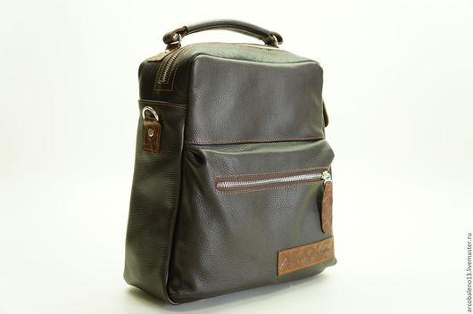 Рюкзаки ручной работы. Ярмарка Мастеров - ручная работа. Купить Кожаный рюкзак МОДЕЛЬ 66 Сумка рюкзак кожаная. Handmade.