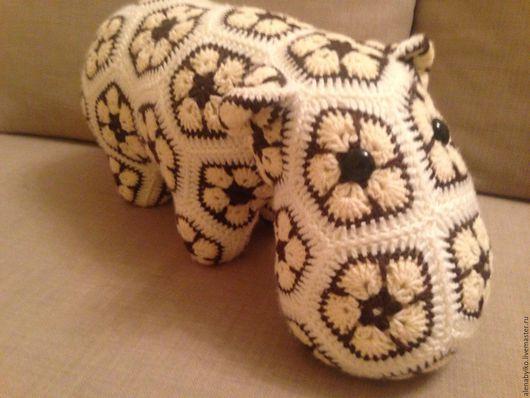 """Игрушки животные, ручной работы. Ярмарка Мастеров - ручная работа. Купить Бегемот из мотивов """"африканский цветок"""". Handmade. Африканский цветок"""