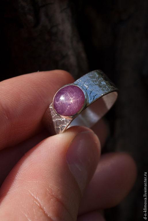 """Кольца ручной работы. Ярмарка Мастеров - ручная работа. Купить кольцо """"Star Spring"""" ,серебро, звездчатый рубин. Handmade. Розовый"""
