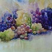 """Картины и панно ручной работы. Ярмарка Мастеров - ручная работа картина акварелью """"Виноградное настроение"""". Handmade."""