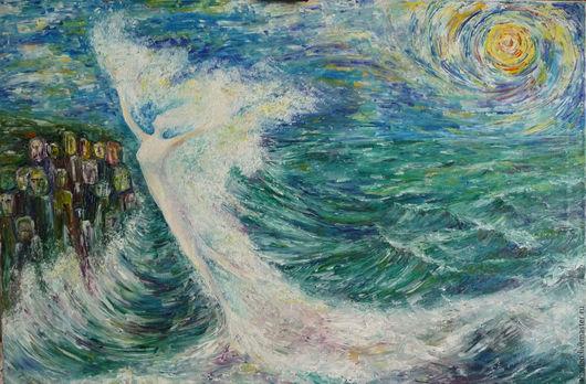 Картина Жарской Еленыы `Я пена морская...` , холст, масло 60*80, 2016 г., иллюстрация к стихотворению М.Цветаевой