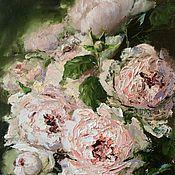 Картины и панно handmade. Livemaster - original item Oil painting of Roses impressionism flowers. Handmade.