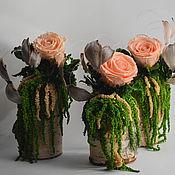 """Цветы и флористика ручной работы. Ярмарка Мастеров - ручная работа Молодые пеньки """"Цветущие"""". Handmade."""
