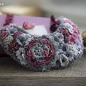 Украшения handmade. Livemaster - original item Collar Floral Fantasy. Handmade.
