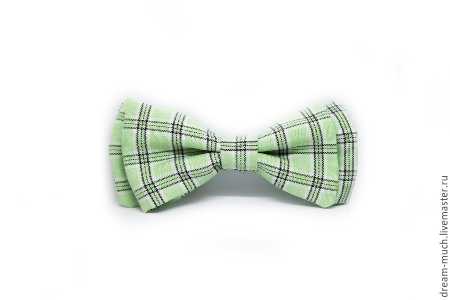 Bow tie light green plaid, Ties, Moscow,  Фото №1