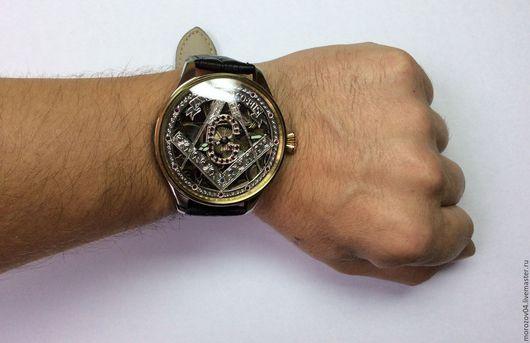 Часы ручной работы. Ярмарка Мастеров - ручная работа. Купить Наручные часы с швейцарским механизмом OMEGA  1912-1916х. Handmade.