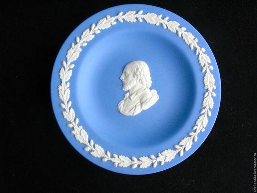 Винтажные предметы интерьера. Ярмарка Мастеров - ручная работа. Купить Веджвудское блюдце с портретом Шекспира. Handmade. Фарфор, английский фарфор