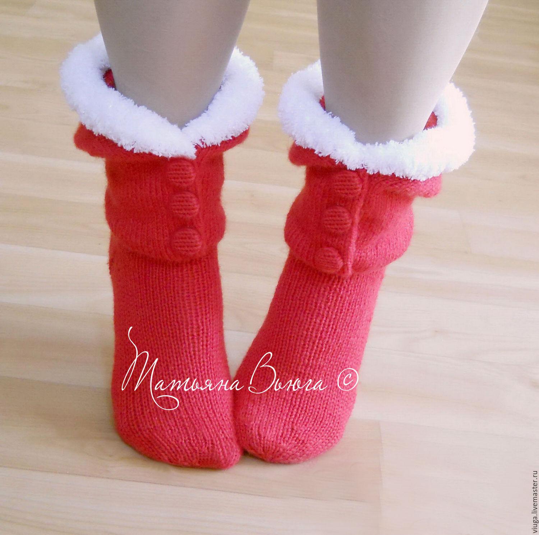 Санты. Носки вязаные купить, носки шерстяные, подарок ...