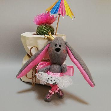 Куклы и игрушки ручной работы. Ярмарка Мастеров - ручная работа Игрушки: Зайка балерина. Handmade.