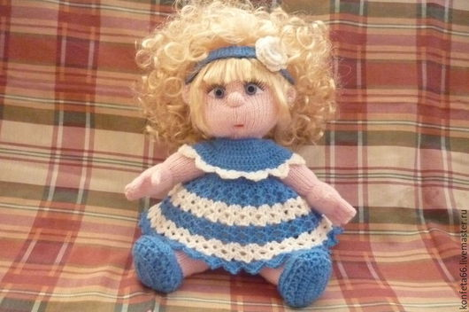 Человечки ручной работы. Ярмарка Мастеров - ручная работа. Купить Кукла вязаная  Ксюша. Handmade. Вязаная кукла, игрушка для ребенка