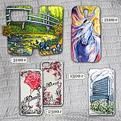 Сумки и аксессуары handmade. Livemaster - original item painted cases for phones, smartphones. Handmade.