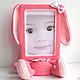 """Фоторамки ручной работы. Ярмарка Мастеров - ручная работа. Купить Рамочка для фото """"Розовый зайка"""". Handmade. Розовый, для девушки"""