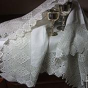 Винтаж handmade. Livemaster - original item Vintage tablecloth with wide lace. Handmade.