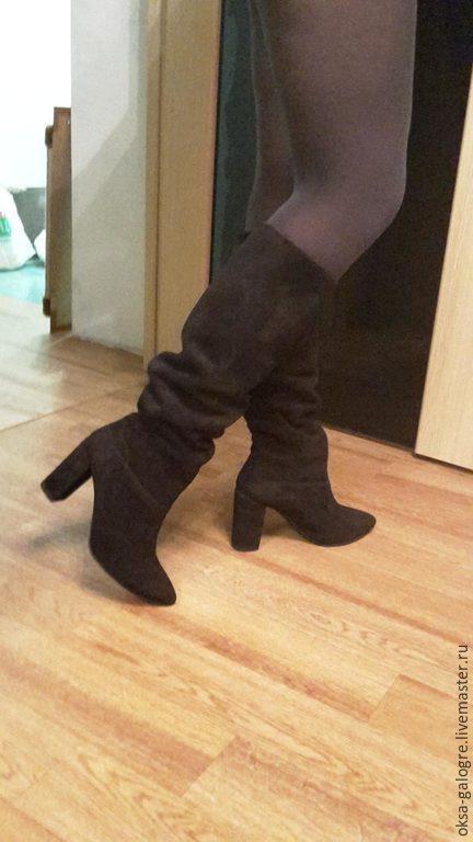 Обувь ручной работы. Ярмарка Мастеров - ручная работа. Купить сапоги зима. Handmade. Черный, зима, сапоги, кожа натуральная