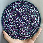 """Посуда ручной работы. Ярмарка Мастеров - ручная работа Тарелка-панно """"Фиолетовая тайна"""". Handmade."""