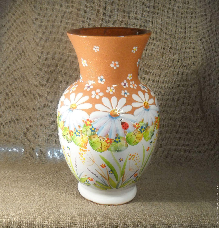 Расписать керамическую вазу
