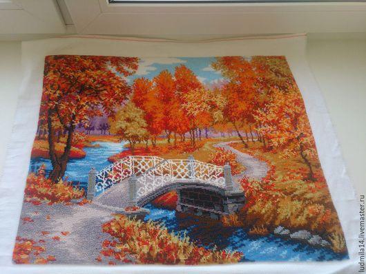 Пейзаж ручной работы. Ярмарка Мастеров - ручная работа. Купить Картина Осенняя мелодия. Handmade. Осень, осенние листья