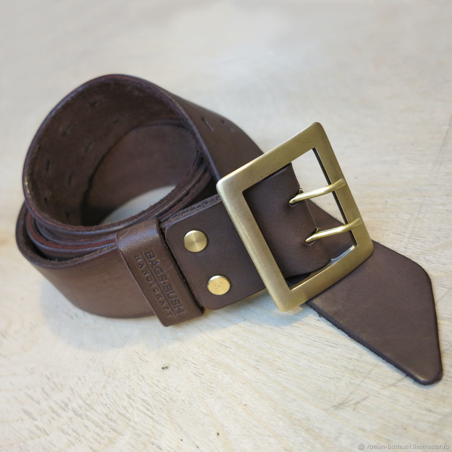 Belt in military style made of genuine leather, Straps, Lyubertsy,  Фото №1