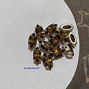 handmade. Livemaster - original item 1pc Czech rhinestones 10h5mm Smoke Topaz Navette Czech rhinestones in DAC. Handmade.