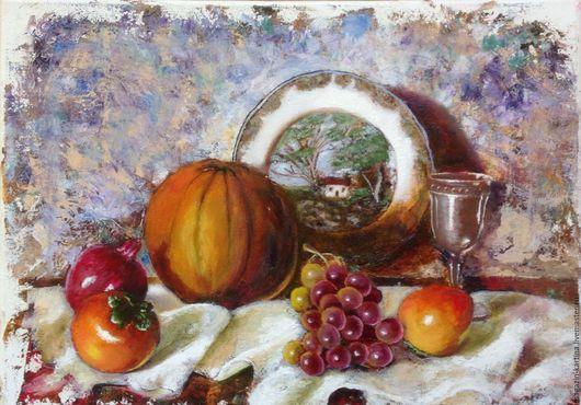 Натюрморт ручной работы. Ярмарка Мастеров - ручная работа. Купить Картина маслом Оранжевое плодородие. Handmade. Оранжевый, картина в столовую
