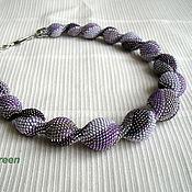 Украшения handmade. Livemaster - original item Harness beaded Purple. Handmade.