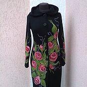 Одежда ручной работы. Ярмарка Мастеров - ручная работа пальто вязаное ручной работы. Handmade.