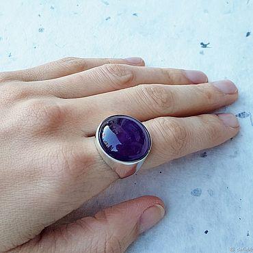 Украшения ручной работы. Ярмарка Мастеров - ручная работа Кольцо с фиолетовым аметистом. Handmade.
