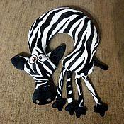 Car souvenirs handmade. Livemaster - original item Car pillow Zebra. Handmade.