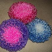 Для дома и интерьера ручной работы. Ярмарка Мастеров - ручная работа мочалки вязанные круглые. Handmade.