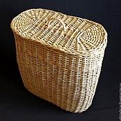 Корзины ручной работы. Ярмарка Мастеров - ручная работа Корзина для белья овальная. Handmade.