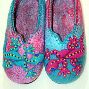 """Обувь ручной работы. Ярмарка Мастеров - ручная работа Валяные тапочки """"Ящерицы"""". Handmade."""