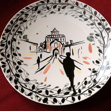 Посуда ручной работы. Ярмарка Мастеров - ручная работа Серия Тени в городе - Коломна. Handmade.