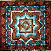 Для дома и интерьера ручной работы. Ярмарка Мастеров - ручная работа Лоскутное одеяло СВЕТ МОЙ, ЗЕРКАЛЬЦЕ покрывало лоскутное. Handmade.