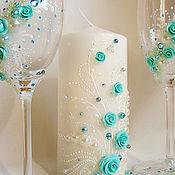 """Свадебный салон ручной работы. Ярмарка Мастеров - ручная работа Свадебный комплект """"Мятное настроение"""". Handmade."""